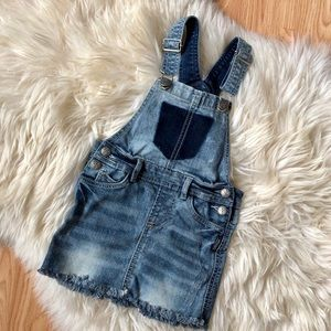 Silver girls nisha jean denim overall dress